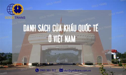 Danh sách cửa khẩu tại Việt Nam