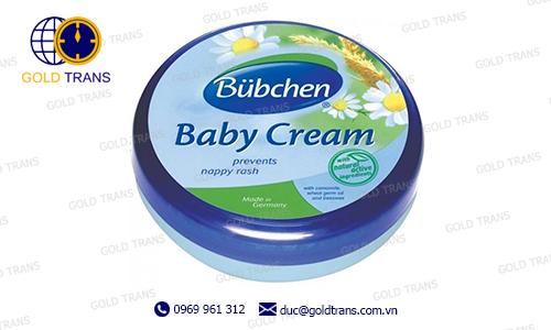 thủ tục nhập khẩu kem chống hăm trẻ em