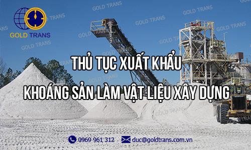 khoáng sản xuất khẩu