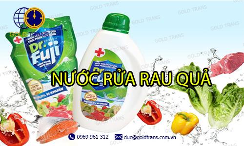 thủ tục nhập khẩu nước rửa rau quả
